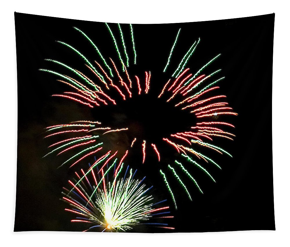 Fireworks Tapestry featuring the photograph The Eyes Have It by David Patterson