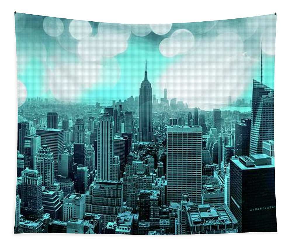 Empire State Building Tapestry featuring the photograph The Fairytale Begins by Az Jackson