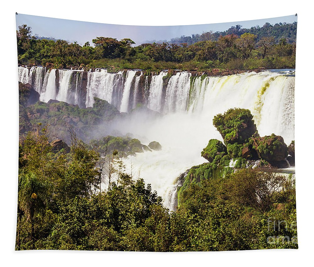 Nature Tapestry featuring the photograph The Falls by Mirko Chianucci