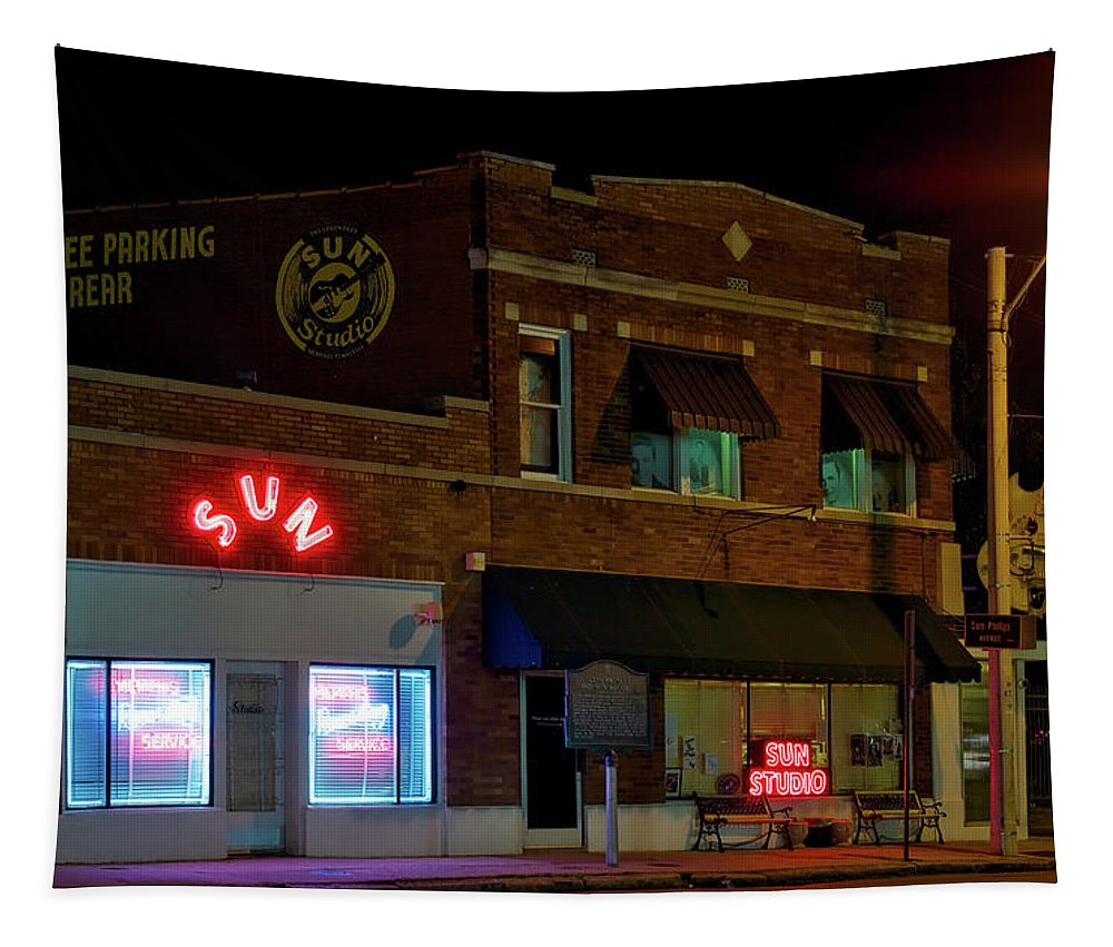 Memphis Tapestry featuring the photograph The Famous Sun Records Studio by Mountain Dreams