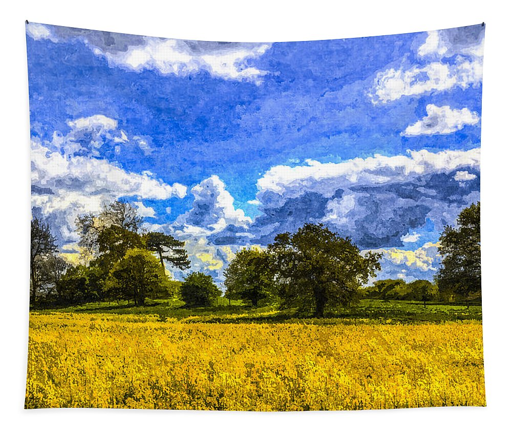 Watercolor Tapestry featuring the photograph The Farm Art by David Pyatt
