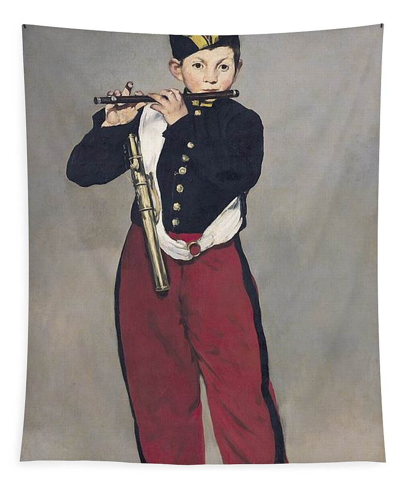 French Tapestry featuring the painting The Fifer by Edouard Manet
