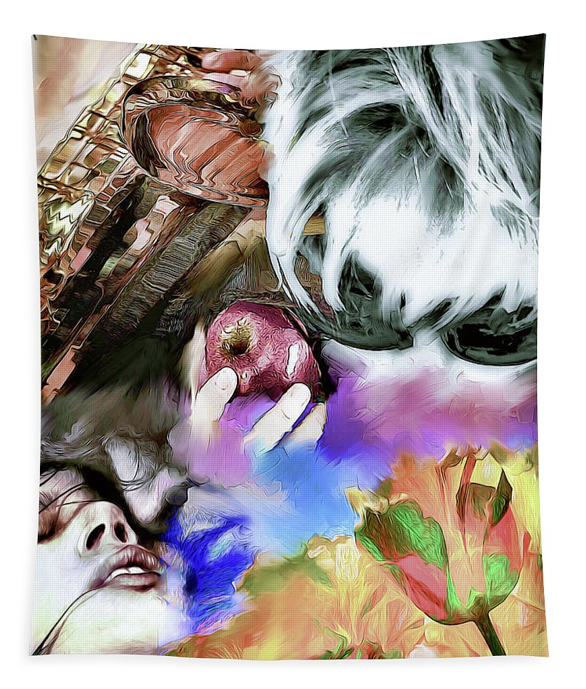 Hair Tapestry featuring the digital art The Five Senses by Pennie McCracken