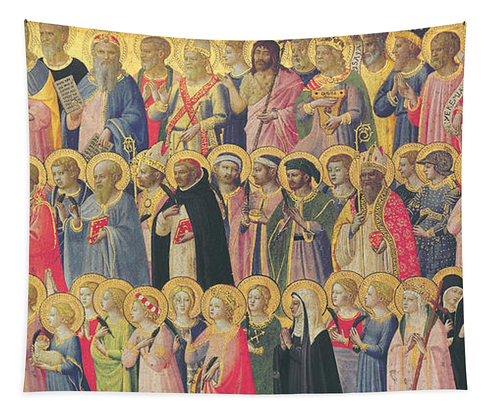 Fra Tapestry featuring the painting The Forerunners Of Christ With Saints And Martyrs by Fra Angelico