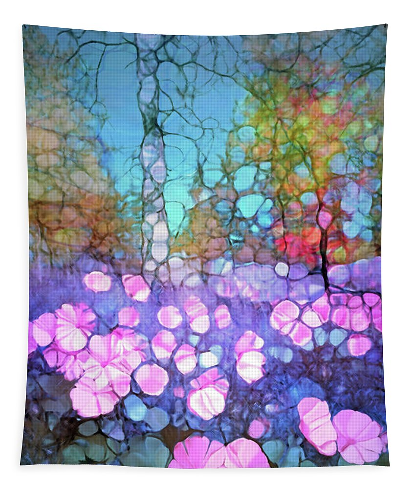 Light Tapestry featuring the digital art The Forest Floor In Bloom by Tara Turner