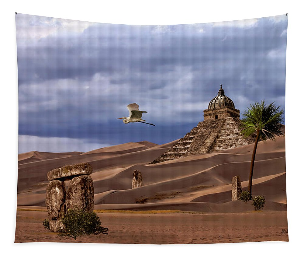 Desert Tapestry featuring the digital art The Forgotten Kingdom Of Kush by Mike Braun