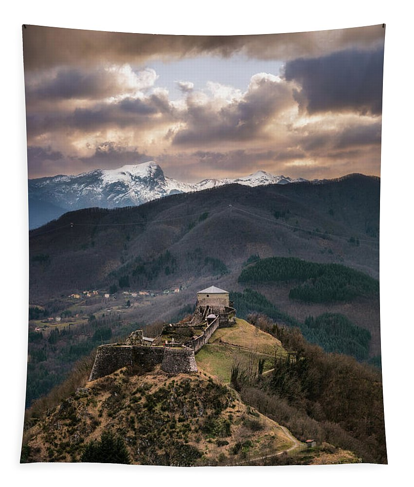 Fortress Tapestry featuring the photograph The Fortress by Matteo Viviani