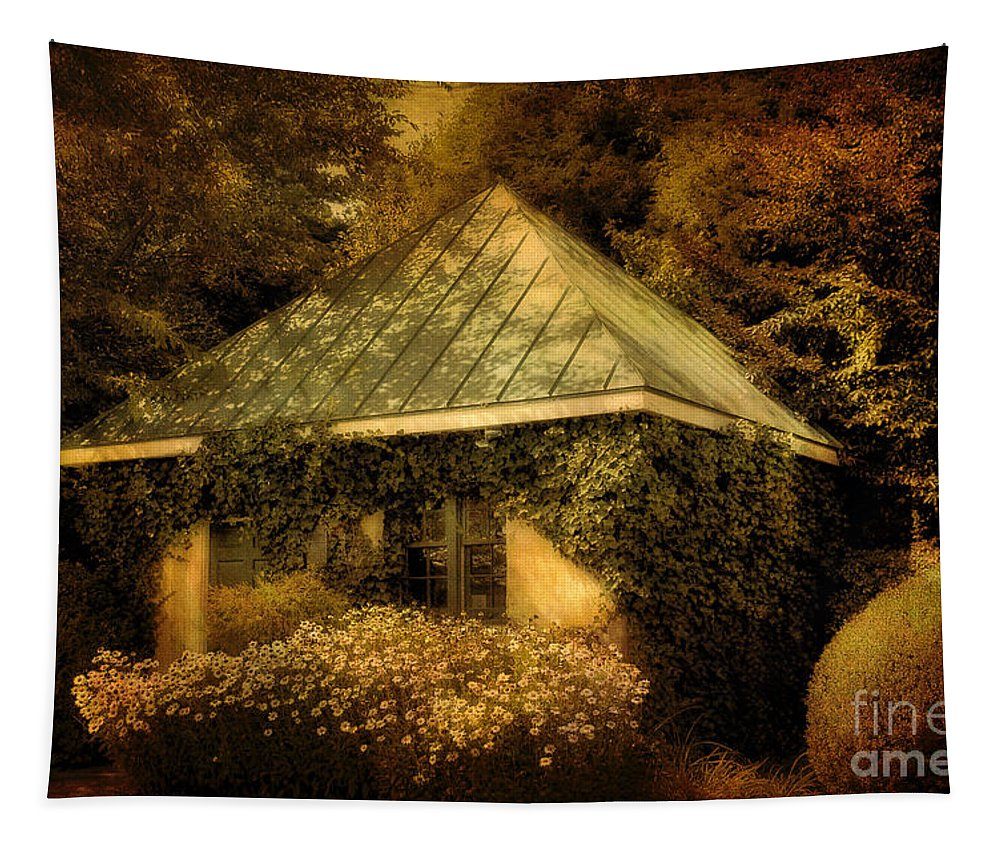 Gatehouse Tapestry featuring the photograph The Gatehouse by Lois Bryan