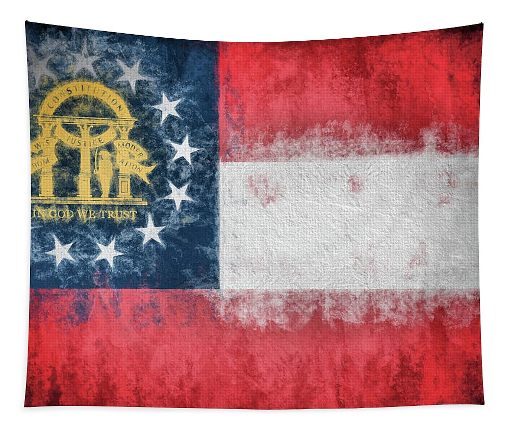 The Georgia Flag Tapestry featuring the photograph The Georgia Flag by JC Findley