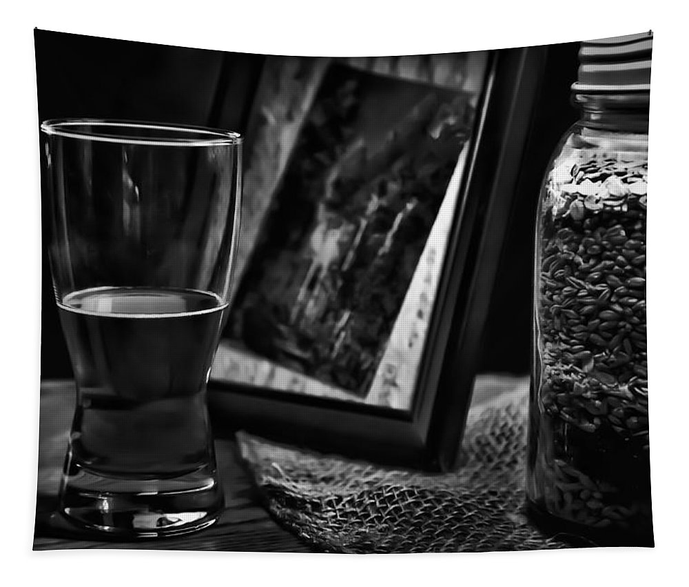 The Glass Is Half Full Tapestry featuring the photograph The Glass Is Half Full by David Patterson
