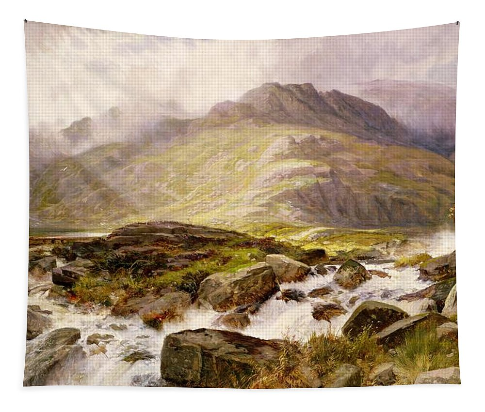 The Tapestry featuring the painting The Glyder Fawr by Edwin Pettitt