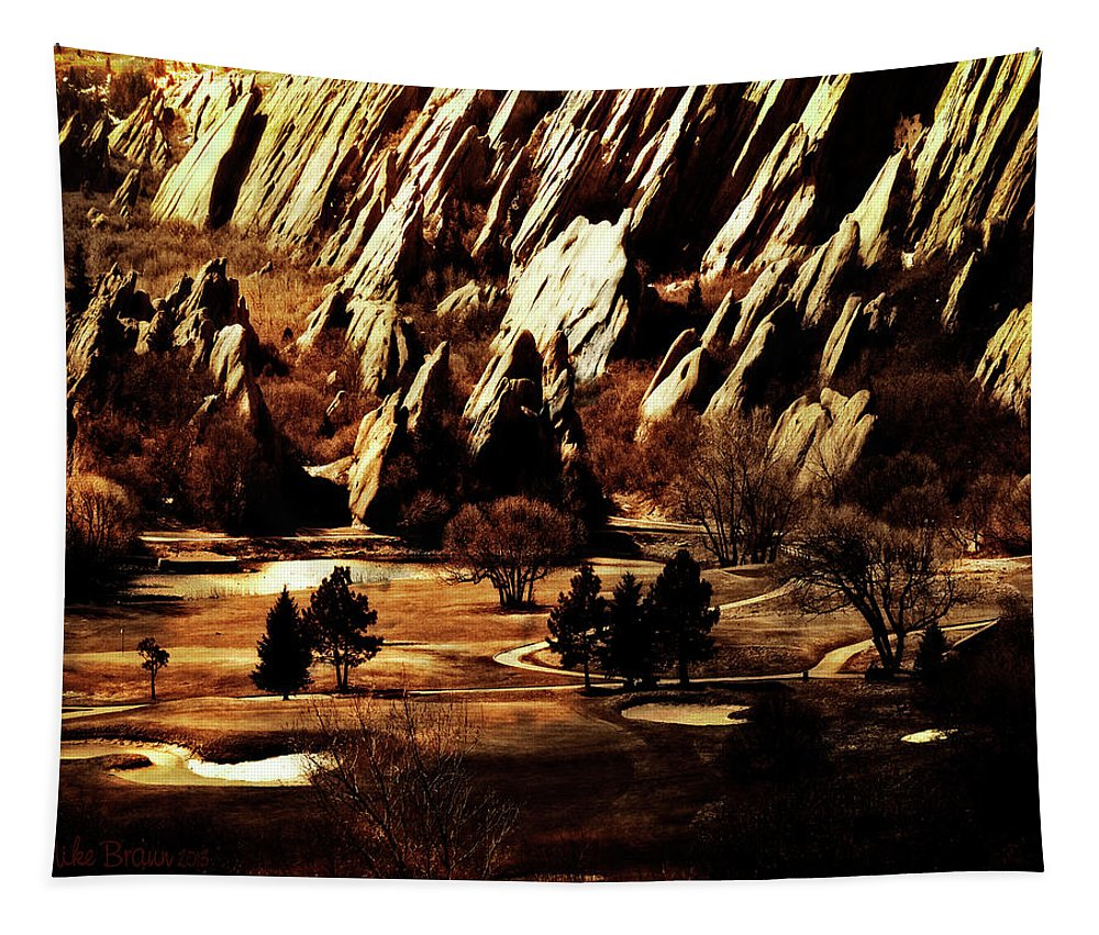 Colorado Tapestry featuring the photograph The Golden Years by Mike Braun