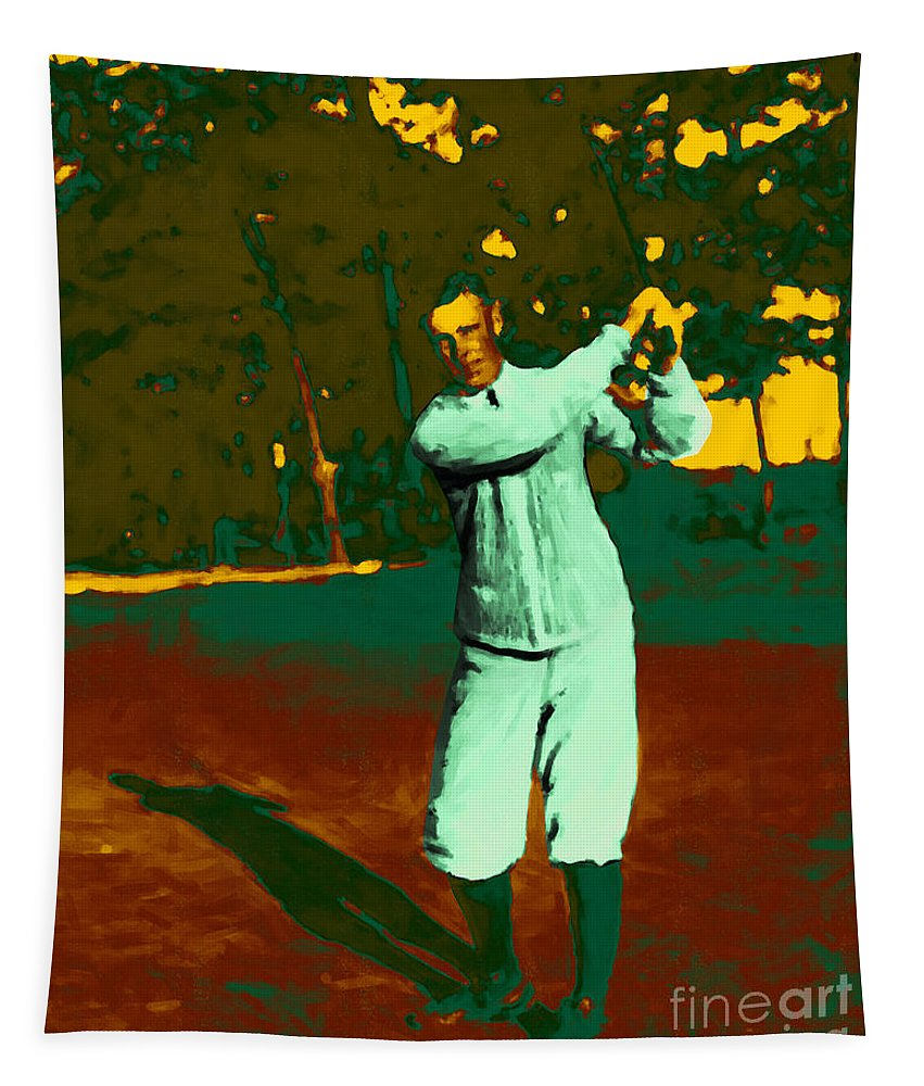 Sport Tapestry featuring the photograph The Golfer - 20130208 by Wingsdomain Art and Photography