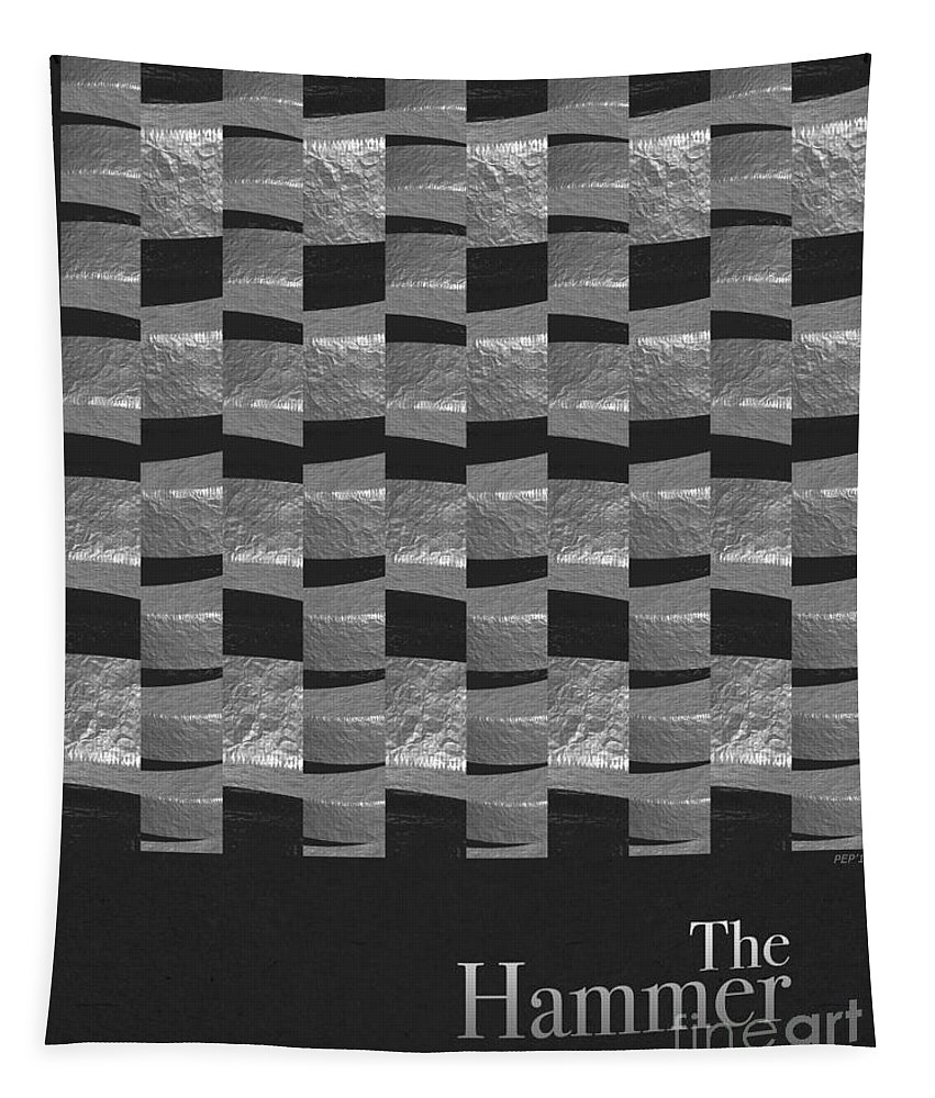 Graphic Design Tapestry featuring the digital art The Hammer by Phil Perkins