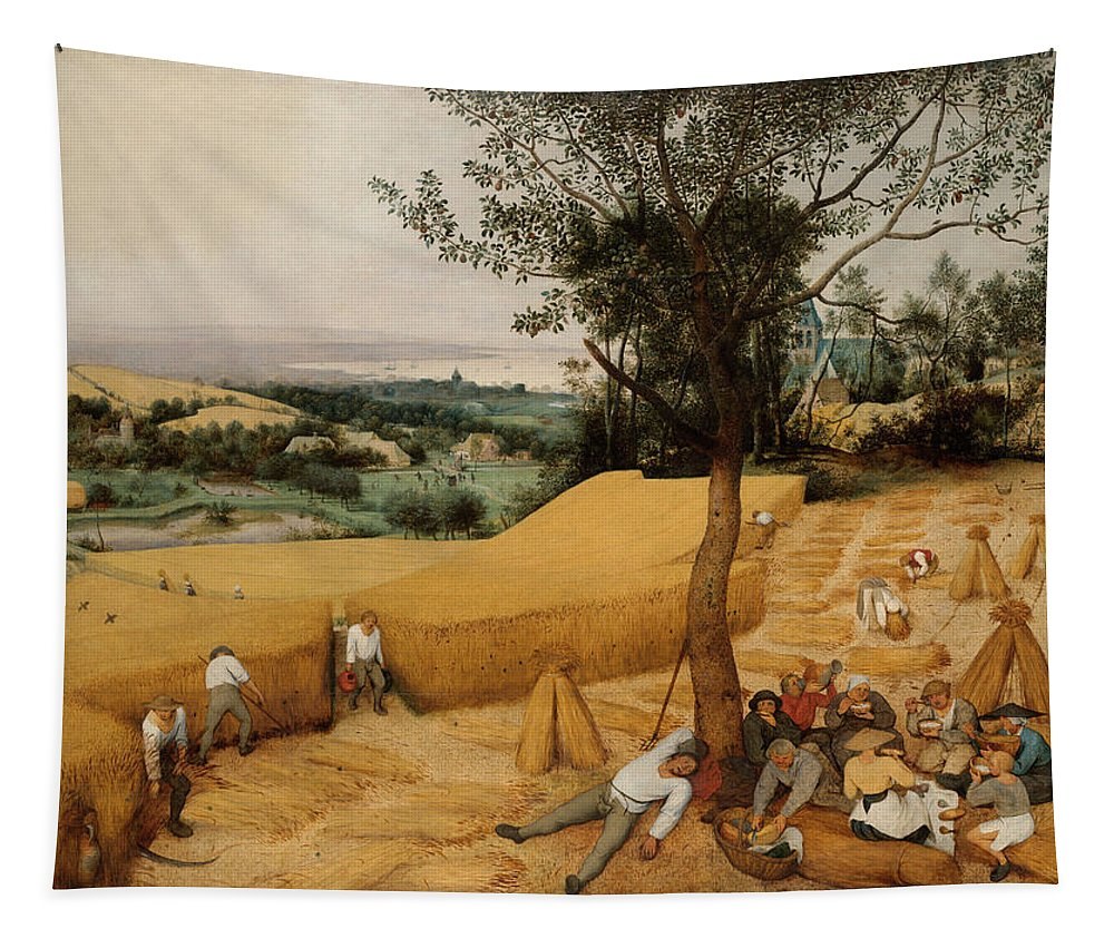 Bruegel Tapestry featuring the painting The Harvesters By Pieter Bruegel The Elder               by Pieter Bruegel the Elder