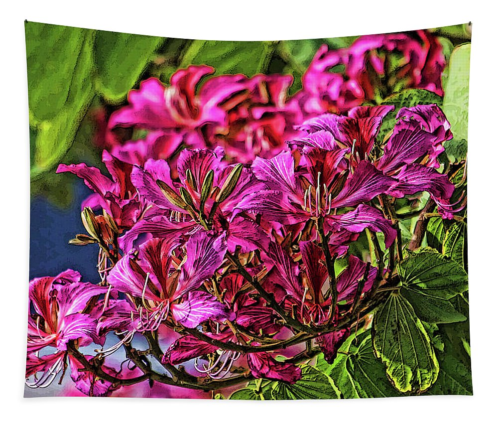Hong Kong Orchid Tapestry featuring the photograph The Hong Kong Orchid by HH Photography of Florida