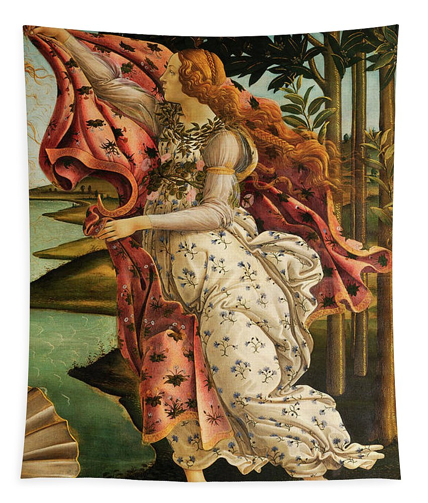 The Hora Of Spring Tapestry featuring the painting The Hora Of Spring by Sandro Botticelli
