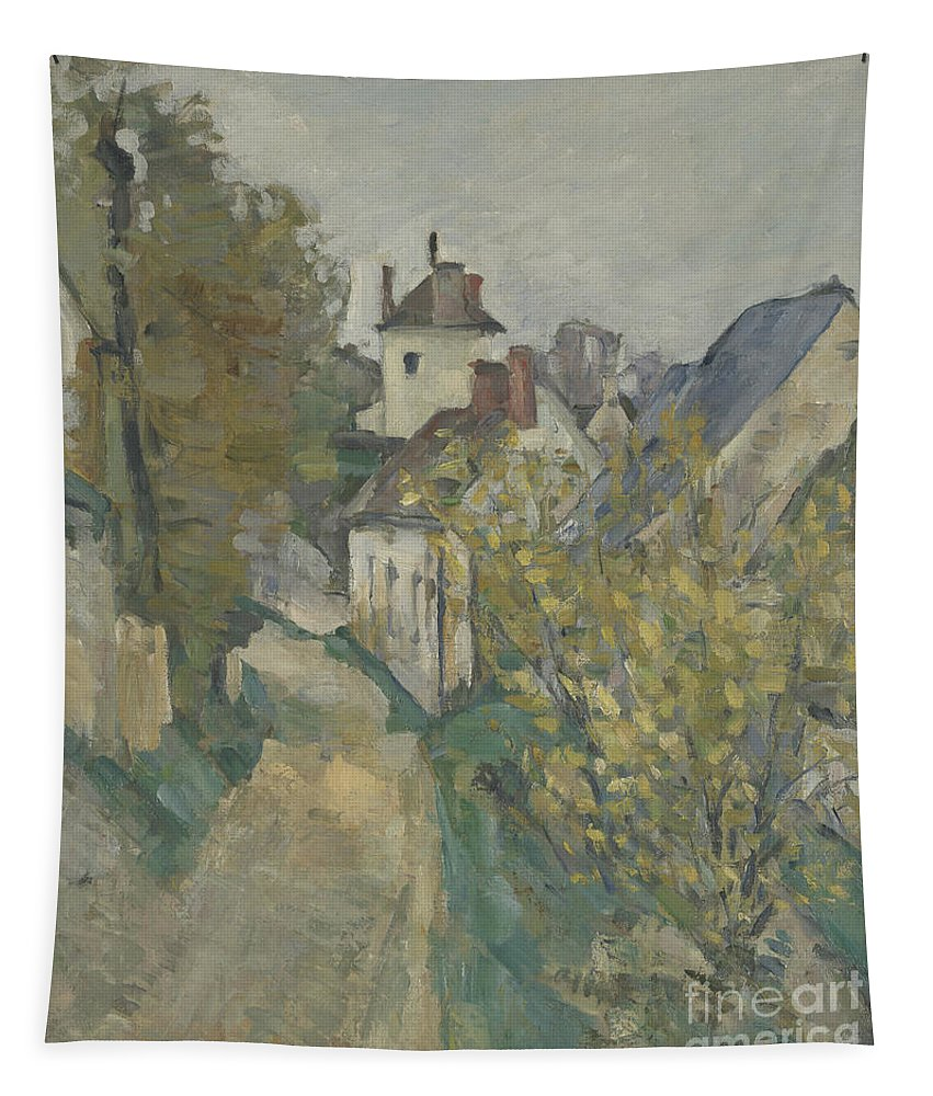 Cezanne Tapestry featuring the painting The House Of Dr Gachet In Auvers Sur Oise by Paul Cezanne