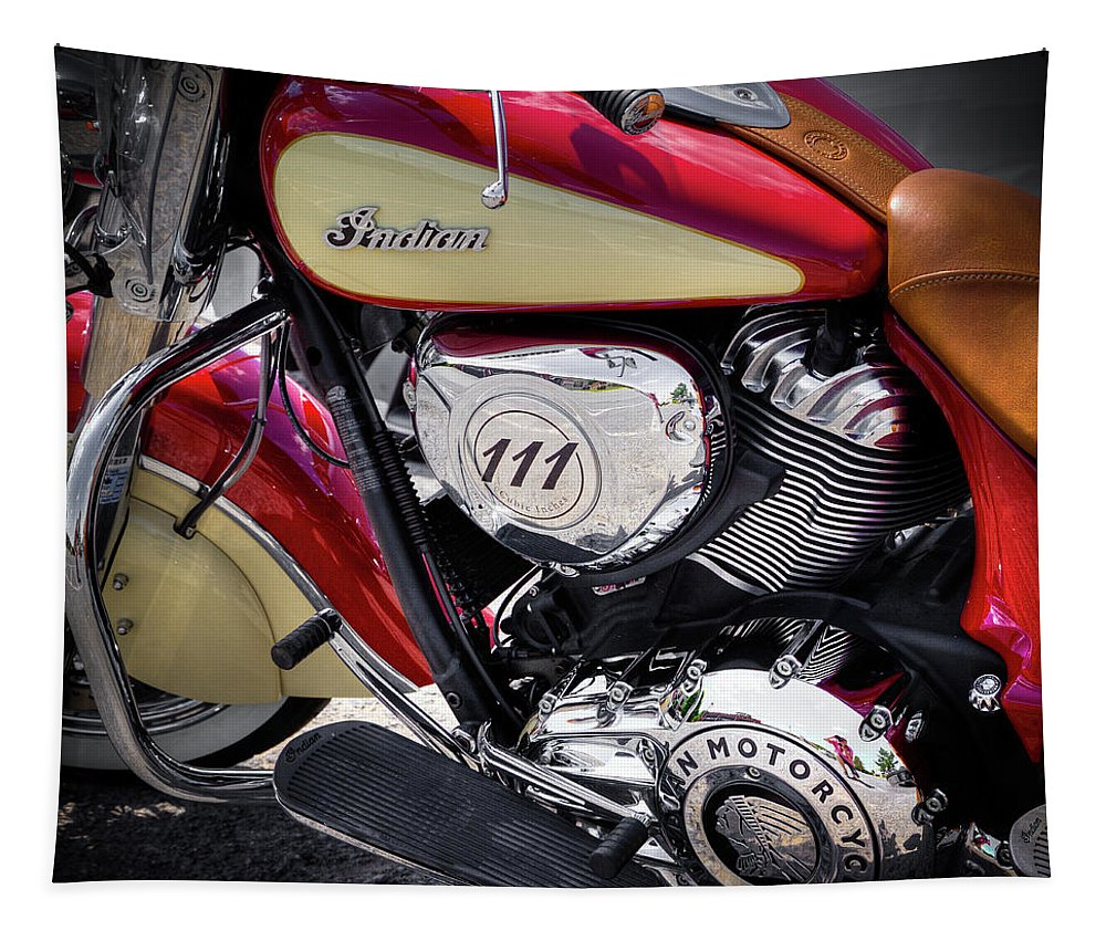 The Indian Chief Tapestry featuring the photograph The Indian Chief by David Patterson