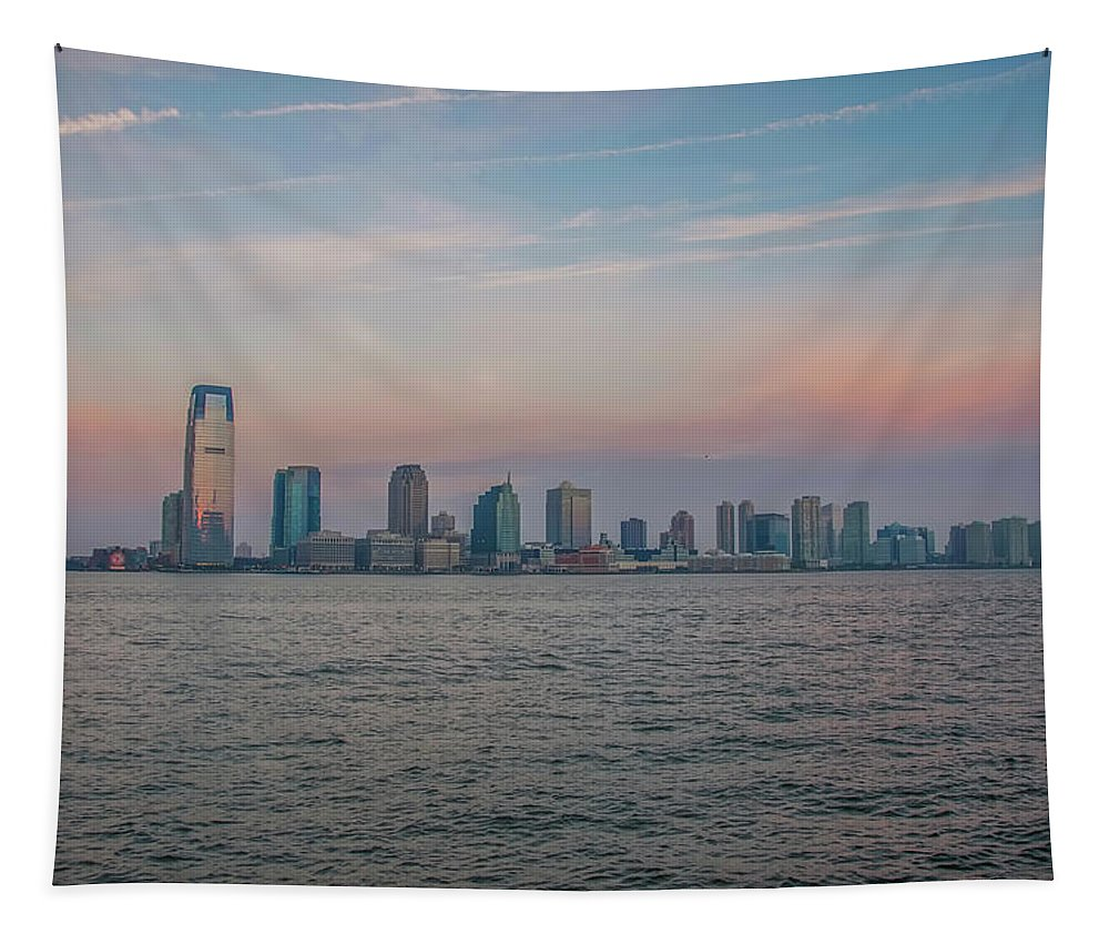 The Tapestry featuring the photograph The Island Of Manhattan by Bill Cannon