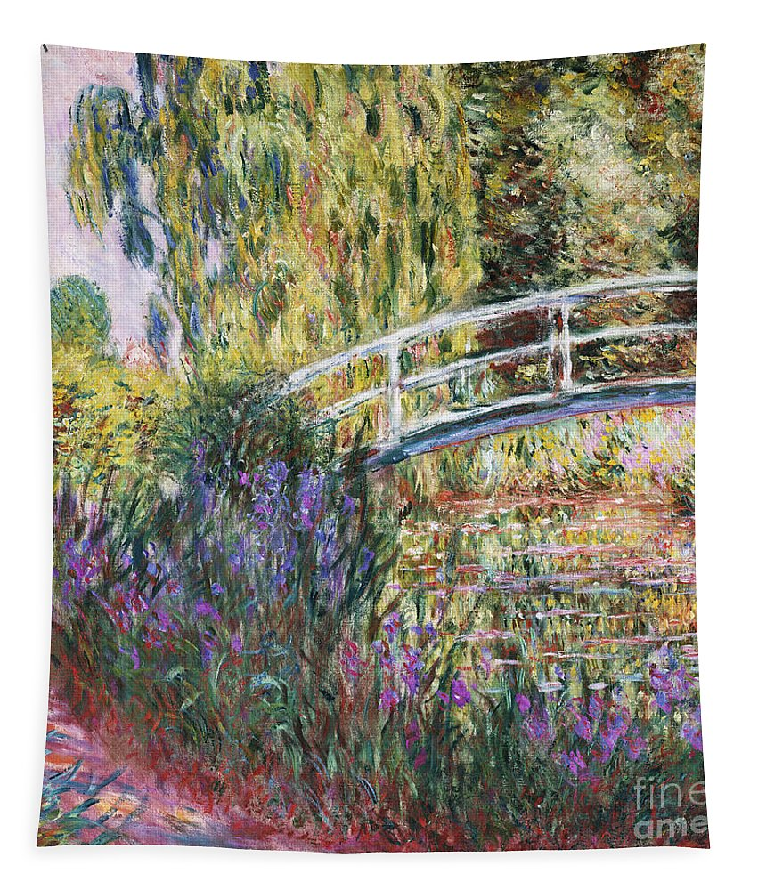 The Japanese Bridge Tapestry featuring the painting The Japanese Bridge by Claude Monet