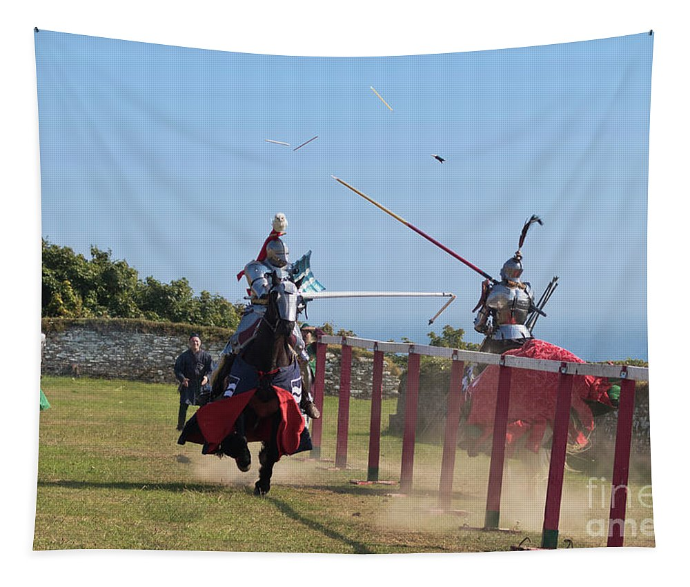 Medieval Tapestry featuring the photograph The Joust by Terri Waters