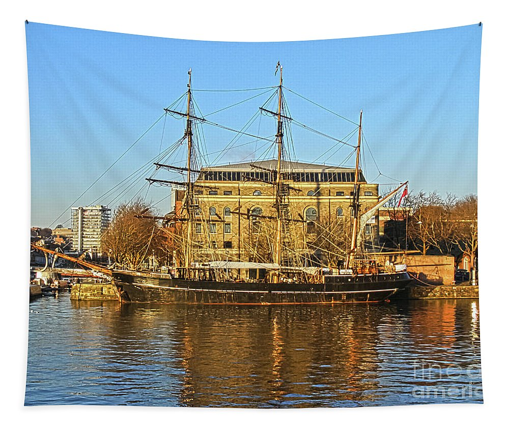 Bristol Dock Tapestry featuring the photograph The Kaskelot In Bristol Dock by Terri Waters