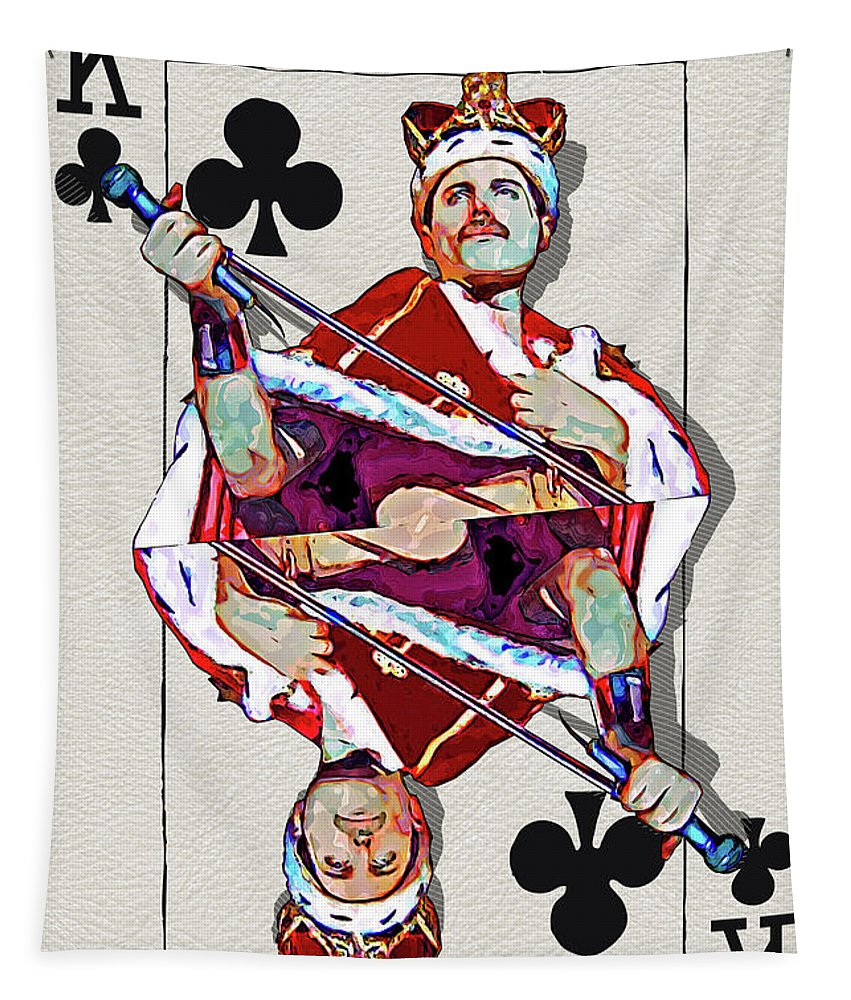 'the Kings' Collection By Serge Averbukh Tapestry featuring the digital art The Kings - Freddie Mercury by Serge Averbukh