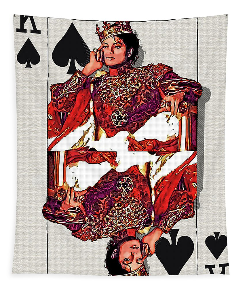 'the Kings' Collection By Serge Averbukh Tapestry featuring the digital art The Kings - Michael Jackson by Serge Averbukh