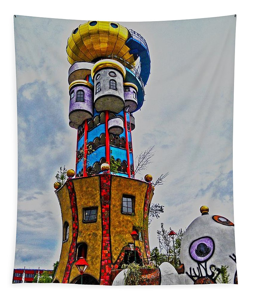 Europe Tapestry featuring the photograph The Kuchlbauer Tower by Juergen Weiss