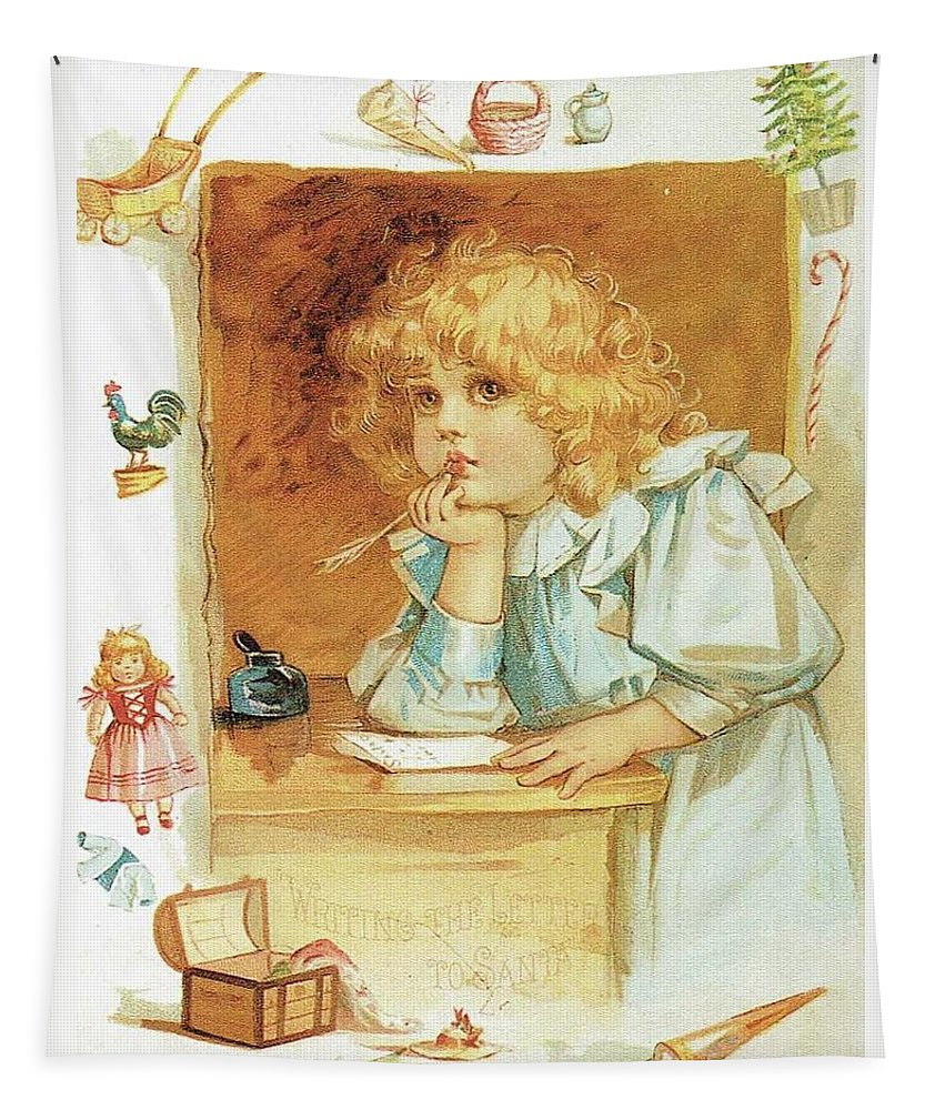 Frances Brundage Tapestry featuring the painting The Letter by Reynold Jay