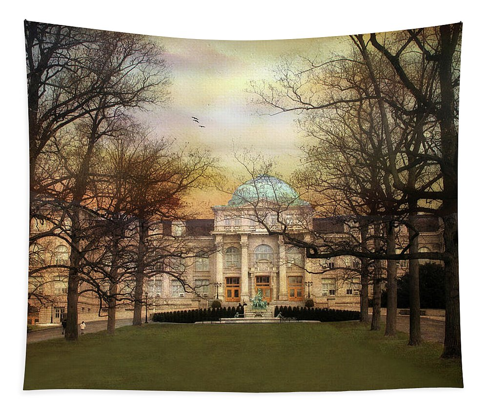 Architecture Tapestry featuring the photograph The Library by Jessica Jenney