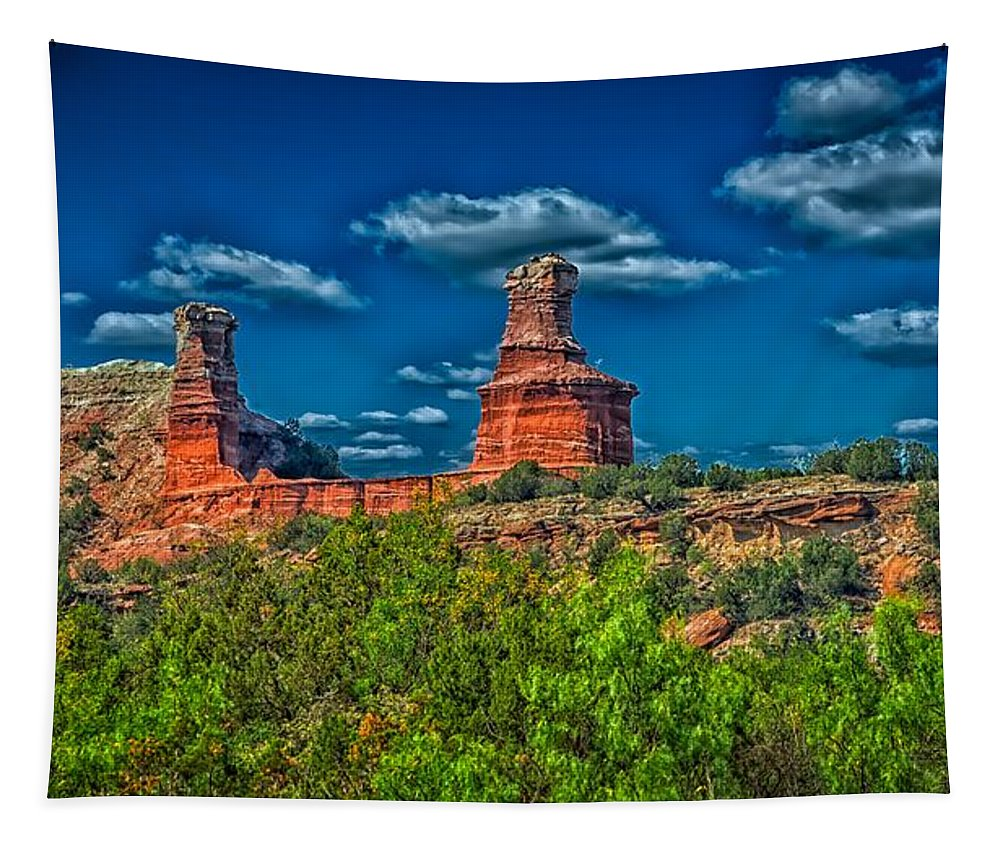 Lighthouse Formation Tapestry featuring the photograph The Lighthouse Formation by Mountain Dreams