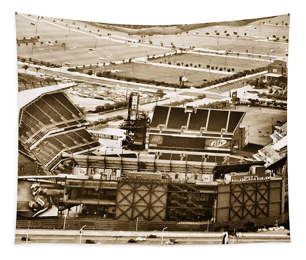 Sport Tapestry featuring the photograph The Linc - Aerial View by Bill Cannon
