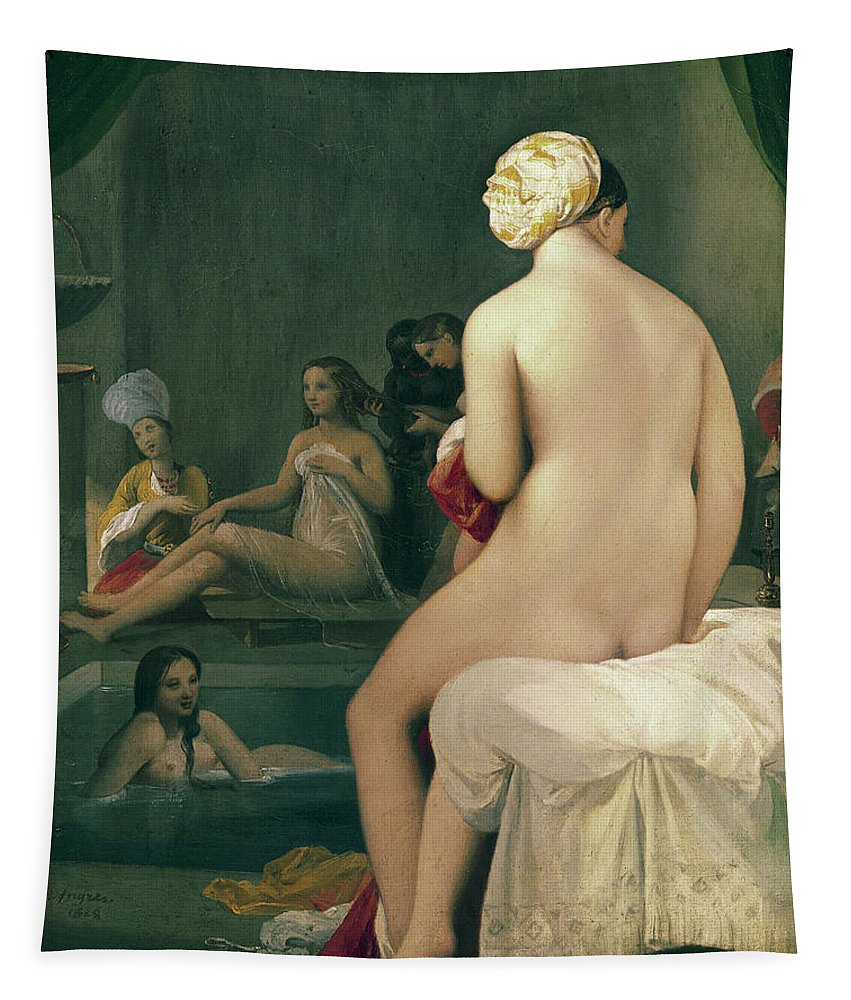 The Tapestry featuring the painting The Little Bather In The Harem by Jean Auguste Dominique Ingres