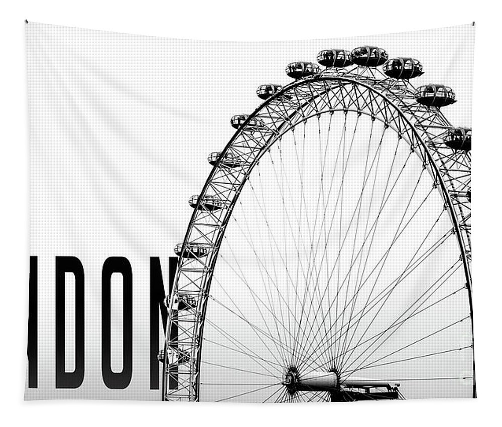 London Tapestry featuring the photograph The London Eye by Edward Fielding