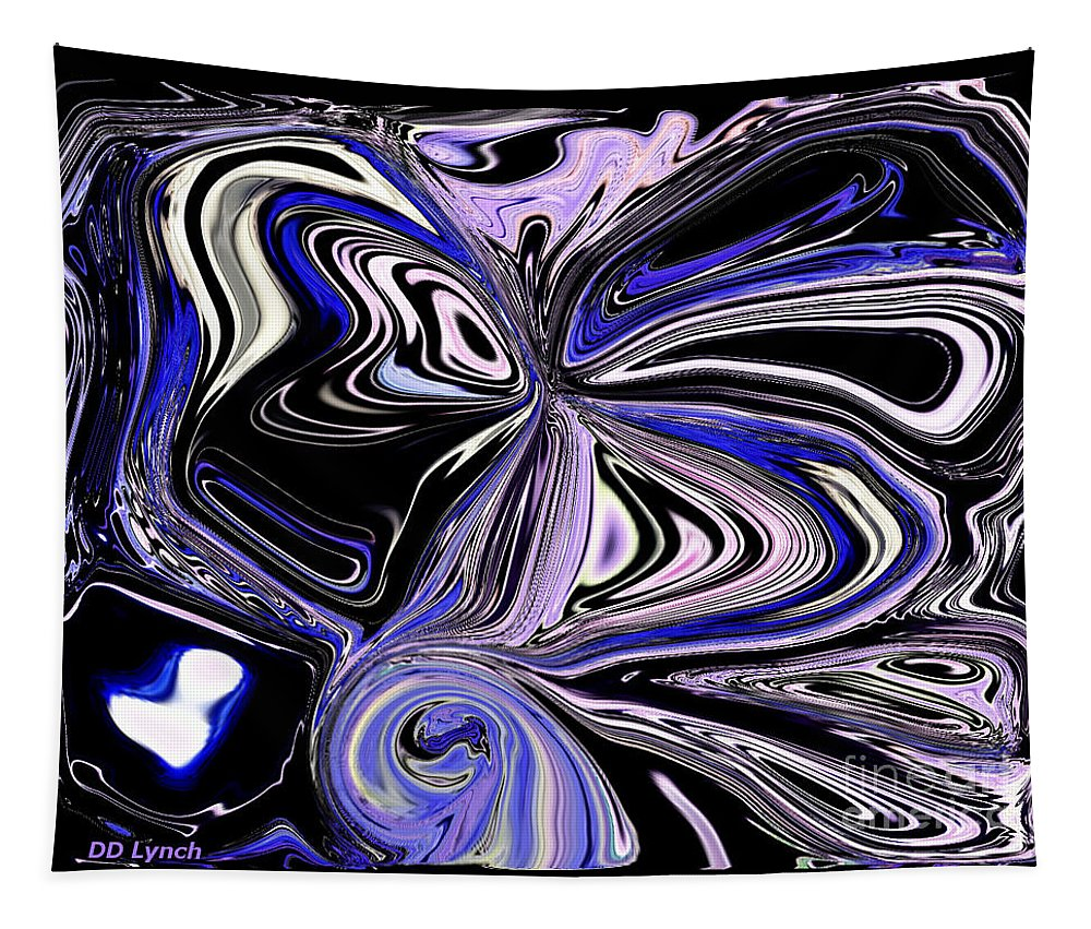 Violet Tapestry featuring the digital art The Lost Statue Abstract by Debra Lynch