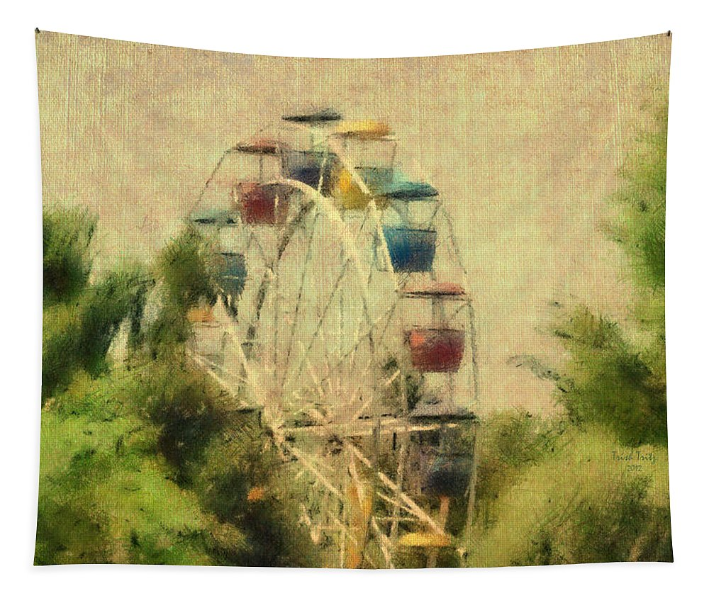 Ferris Wheel Tapestry featuring the photograph The Lover's Ride by Trish Tritz