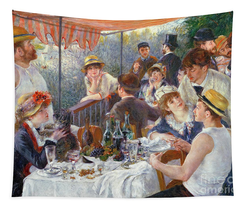 The Tapestry featuring the painting The Luncheon of the Boating Party by Pierre Auguste Renoir