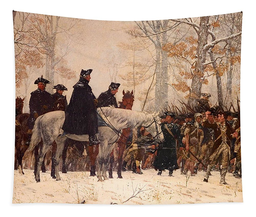 Painting Tapestry featuring the painting The March To Valley Forge by Mountain Dreams