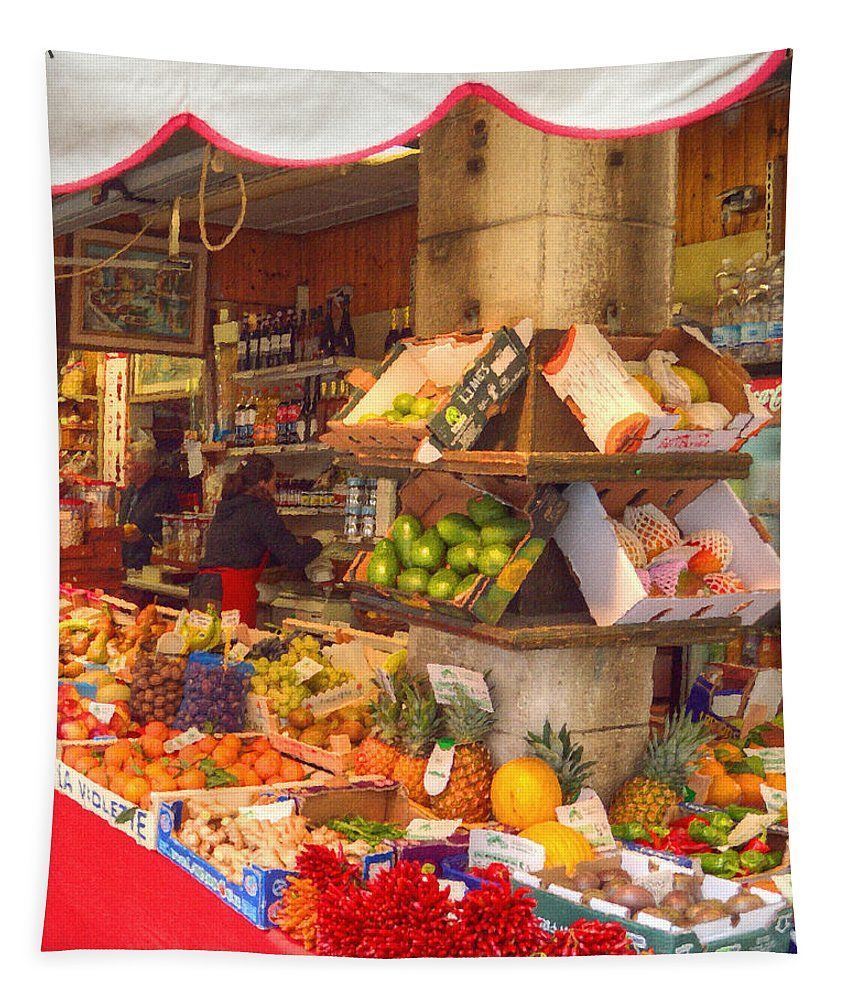 Market Tapestry featuring the photograph The Market by Darin Williams