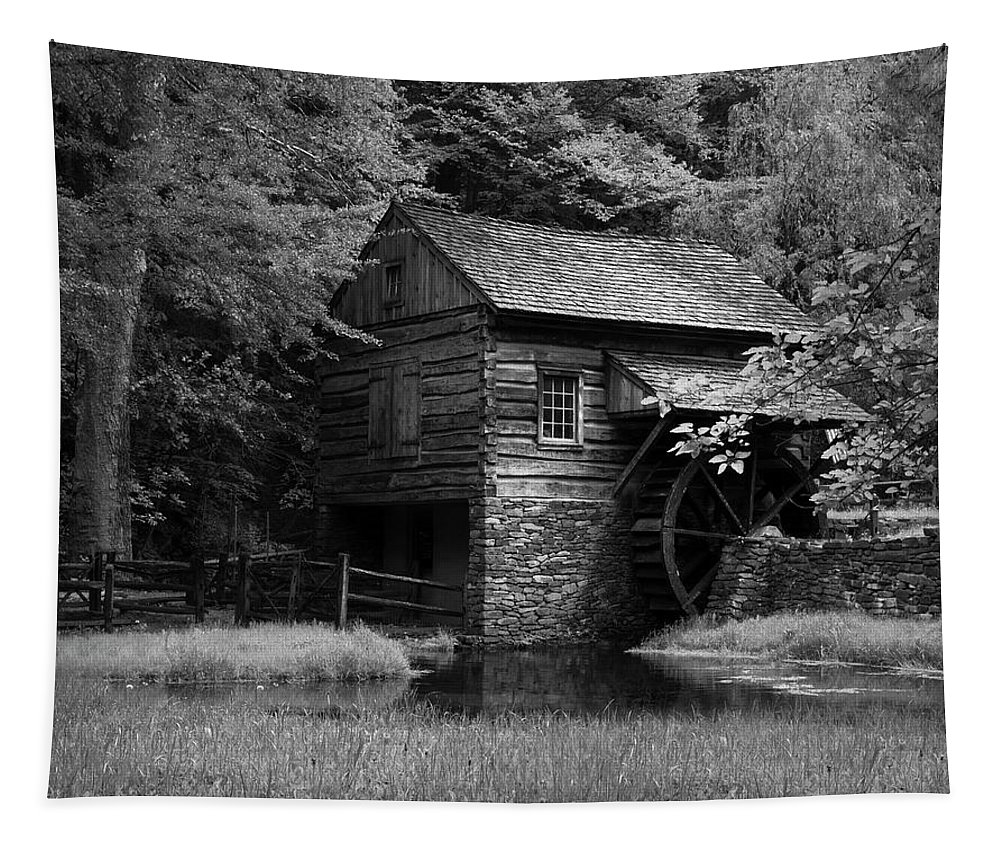 Mill Tapestry featuring the photograph The Mill by Eleanor Bortnick