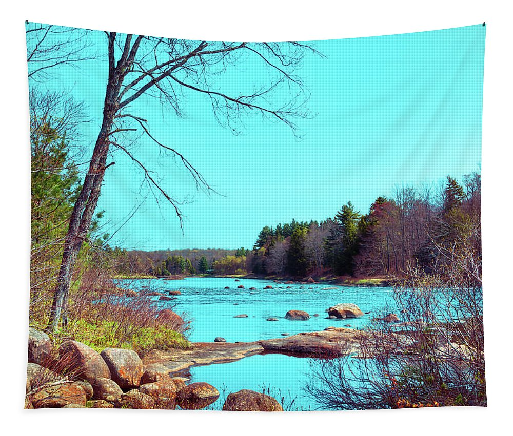 The Moose River At Lyonsdale Tapestry featuring the photograph The Moose River At Lyonsdale by David Patterson