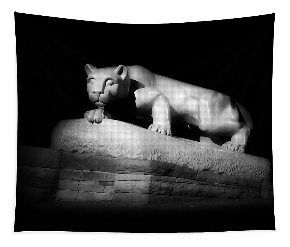 Lion Tapestry featuring the photograph The Nittany Lion Of P S U by Mountain Dreams