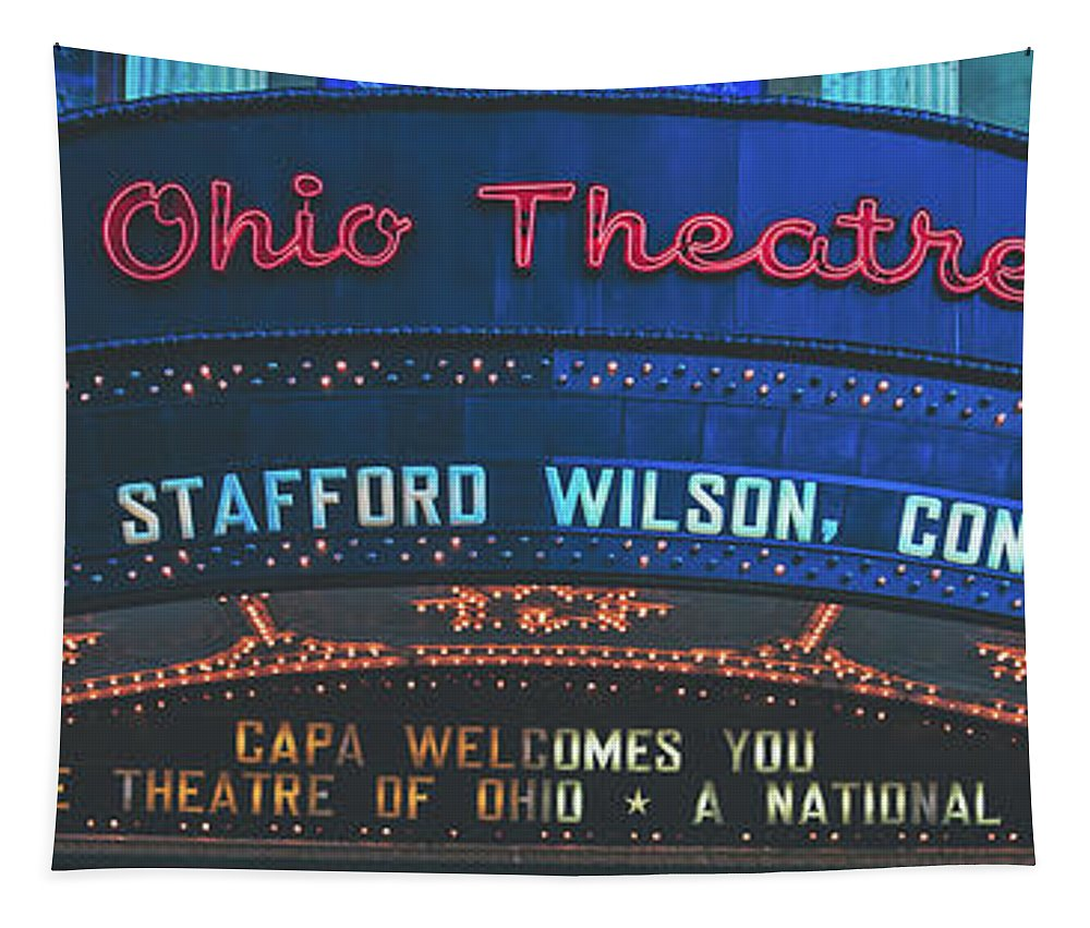 Ohio Theatre Tapestry featuring the photograph The Ohio Theatre - Columbus, Ohio by Library Of Congress
