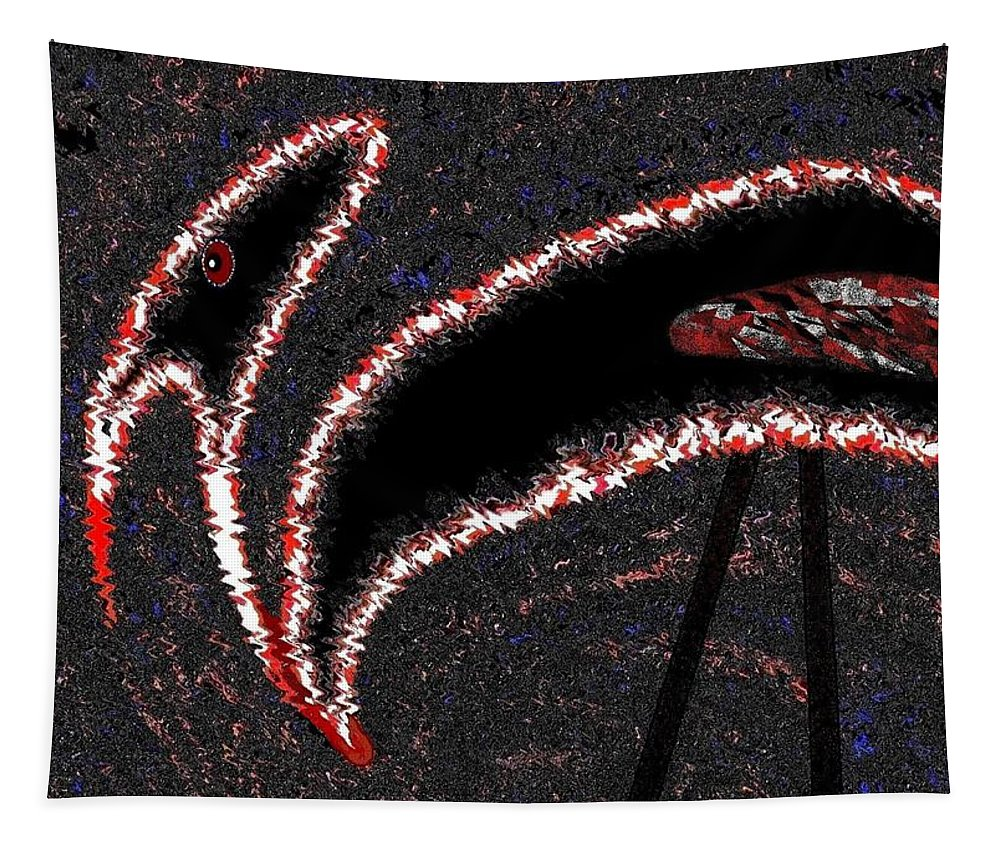 Buzzard Tapestry featuring the digital art The Old Buzzard by Will Borden
