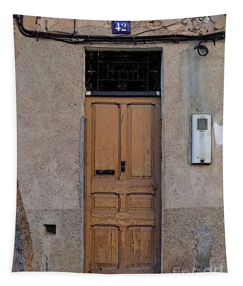 Architecture Tapestry featuring the photograph The Old Door. by Don Pedro DE GRACIA