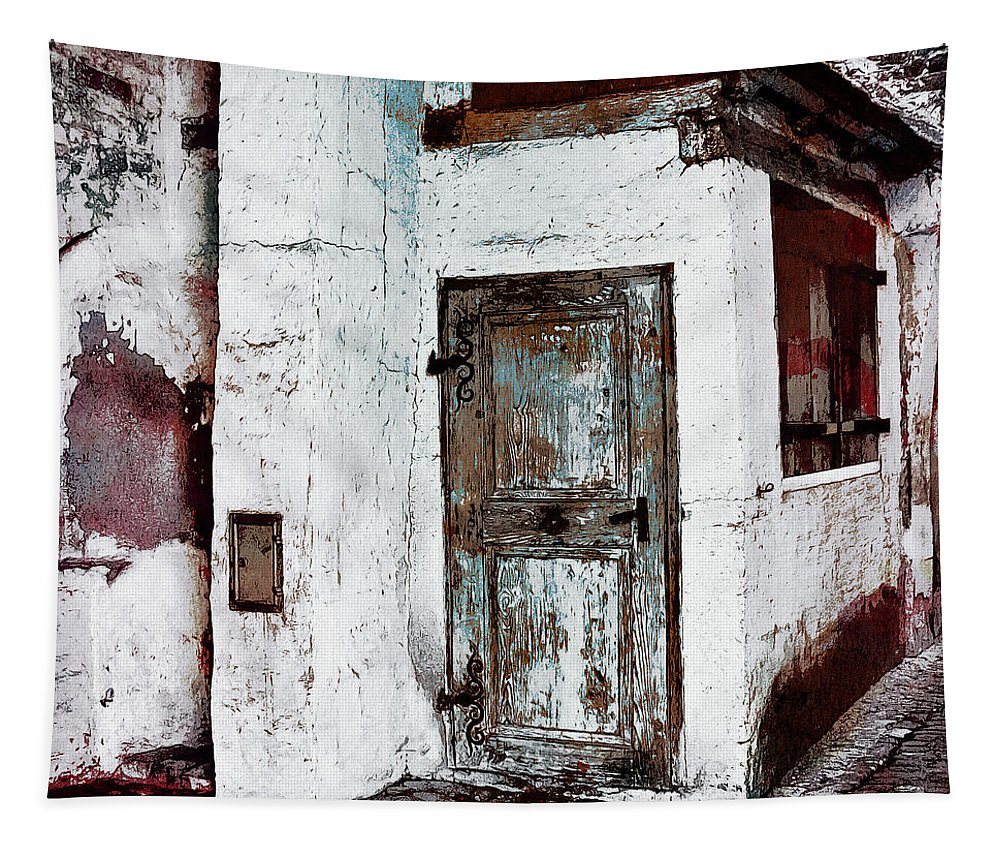 Photo Tapestry featuring the digital art The Old Witch House by Jutta Maria Pusl
