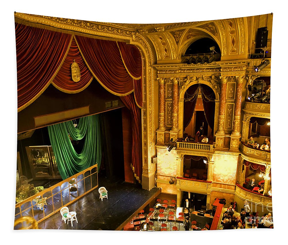 Opera House Tapestry featuring the photograph The Opera House Of Budapest by Madeline Ellis