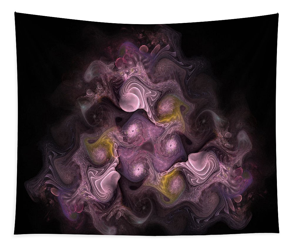 Abstract Tapestry featuring the digital art The Palatine Hill - Fractal Art by NirvanaBlues